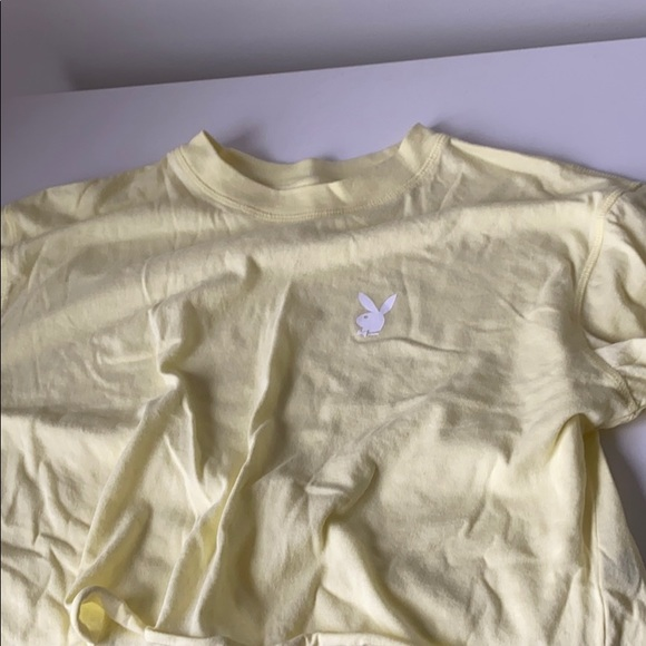 PLAYBOY Tops - bright yellow long sleeve top